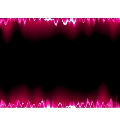 Sound waves oscillating on black EPS 10 vector