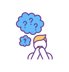 Stress and anxiety rgb color icon vector