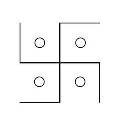 Swastika line icon vector