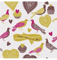 Sweet cute birds vector