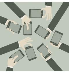 Team business concept hands vector