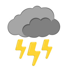 thunder with cloud icon weather label for web on vector image