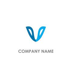 v initial logo vector image
