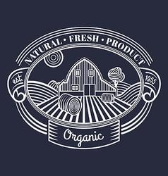 Vintage farm emblem vector