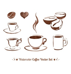 Watercolor coffee vector
