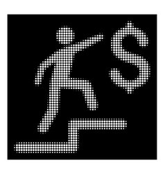 white halftone business steps icon vector image