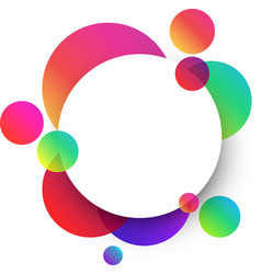 white round background with colour spots vector image