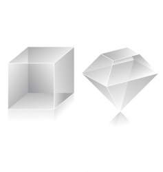 3d shape vector image vector image