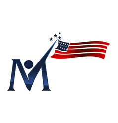 american independence day initial m vector image