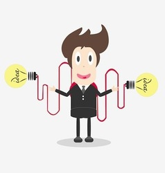 businessman with light bulb vector image