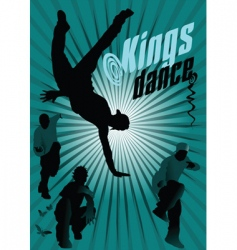 kings dance vector image vector image