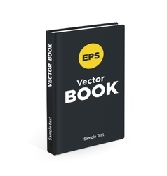 Realistic black book on the white background vector image vector image