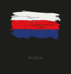 russia colorful brush strokes painted national vector image vector image