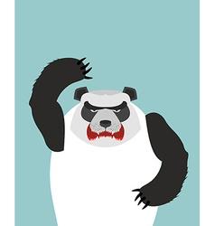 Angry Panda bear vector image