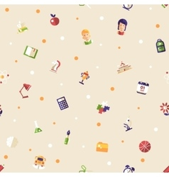 Back to school flat design icons seamless pattern vector image