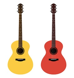 detailed of acoustic guitars in a flat style vector image vector image