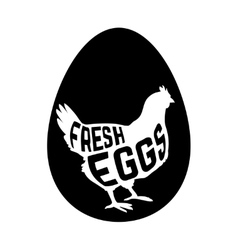 Egg with concept chicken silhouette inside on vector image