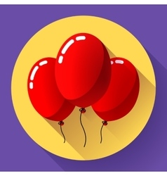 Festive red air balloons icon holiday symbol vector image vector image