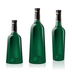 green wine bottle vector image vector image