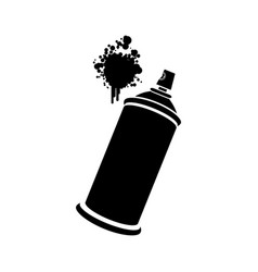 aerosol sprays with a stain icon vector image