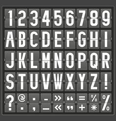 alphabet of mechanical panel vector image