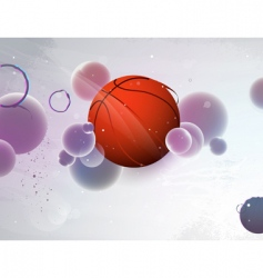 basketball with the abstract vector image