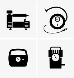 car air pumps vector image vector image