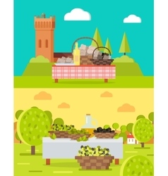 Italian truffles and spanish olive oil concepts vector