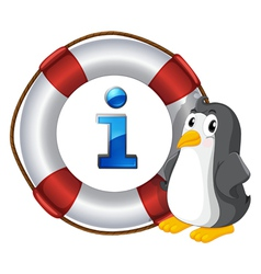 Penguin Information Kiosk Sign vector image vector image