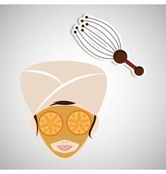 Spa center design health icon Isolated vector image