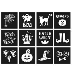 halloween templates badges set vector image