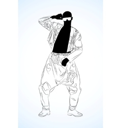 old school rap dancer vector image vector image