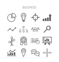 Set of simple isolated business icons vector image