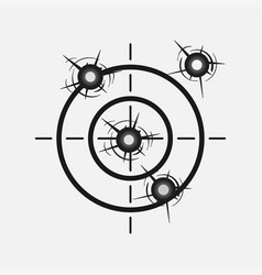 target image with a shot hitting the vector image