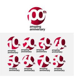 100 th amazing anniversary celebration template vector
