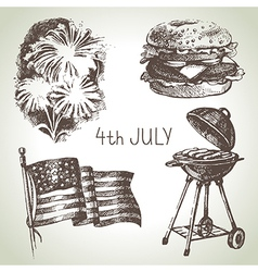 4th july set vector image