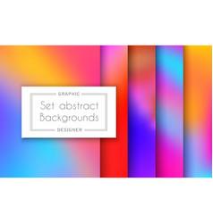 a set trending patterns purple ultraviolet vector image