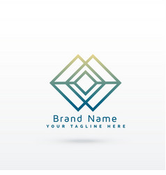 Abstract diamond line logo concept design vector