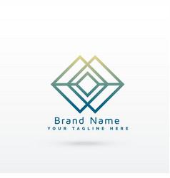 Abstract diamond line logo concept design vector