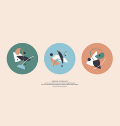 abstract elements in retro style a template for vector image