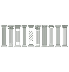 ancient classic pillars greek and roman vector image