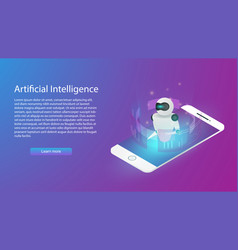 artificial intelligence technology information vector image