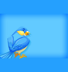 Background template with plain color and blue bird vector