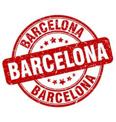 Barcelona red grunge round vintage rubber stamp vector