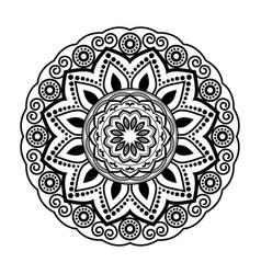 Black mandala mandala circular pattern design vector