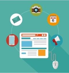 blog management design vector image