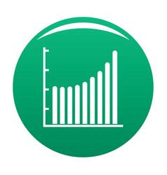 Business diagram icon green vector