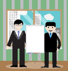 Business team show presentation vector image