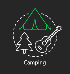 camping chalk concept icon family time together vector image