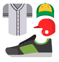 cartoon baseball uniform player batting vector image